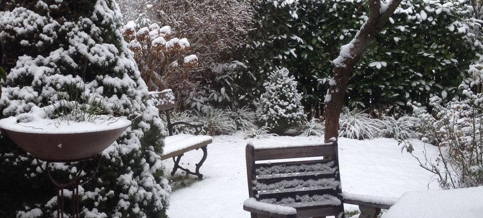 Winterruhe nur im Garten - in der Töpferwerkstatt wird gearbeitet