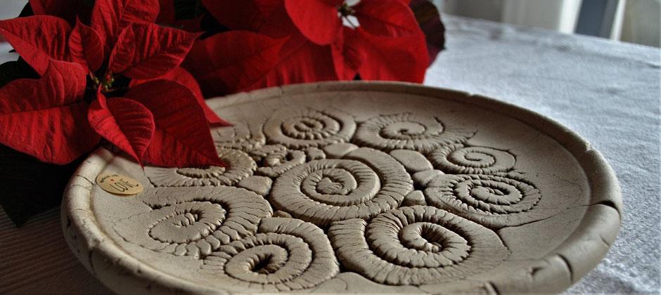 Schale aus Keramik Handarbeit