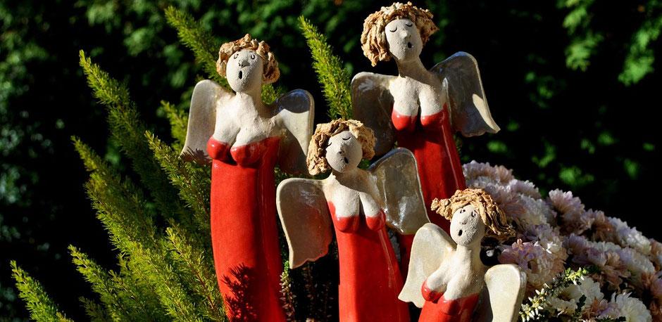 Gartenkeramik frostsicher Weihnachten
