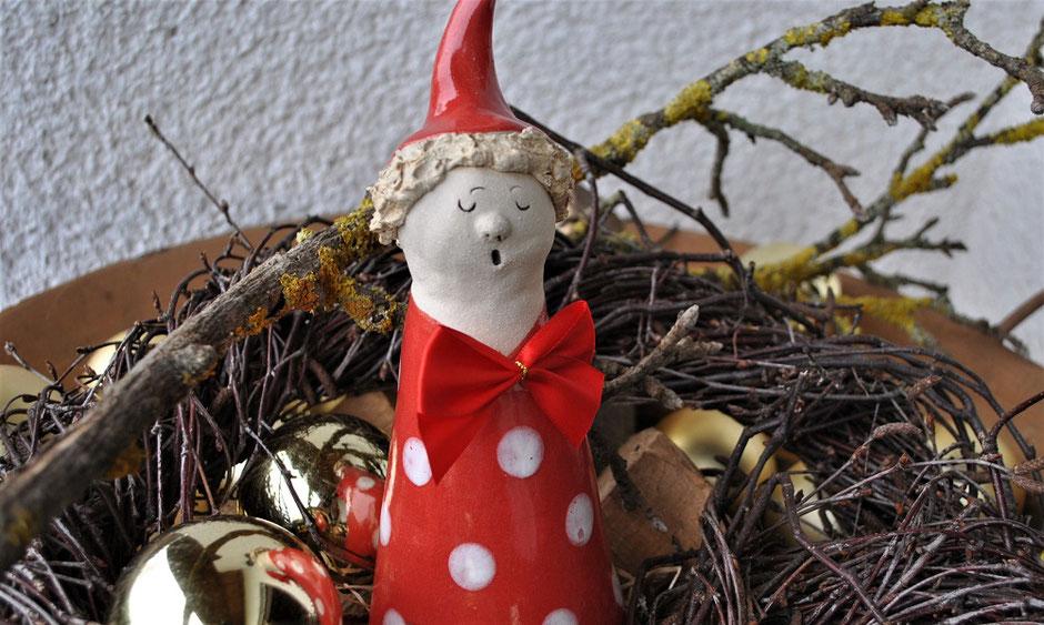 Gartenkeramik als Weihnachtsgeschenk