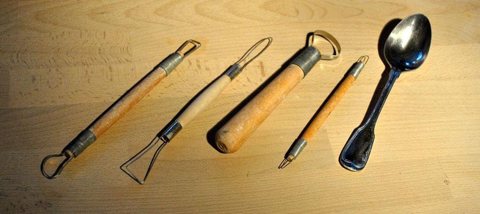 Töpferwerkzeug Tonschlinge