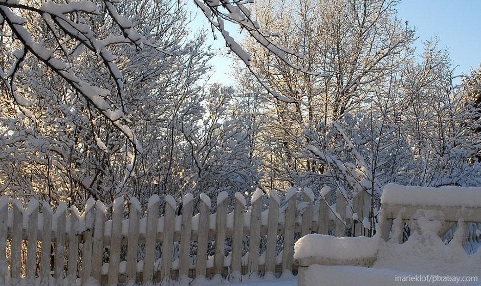 Gartenkeramik für den Winter