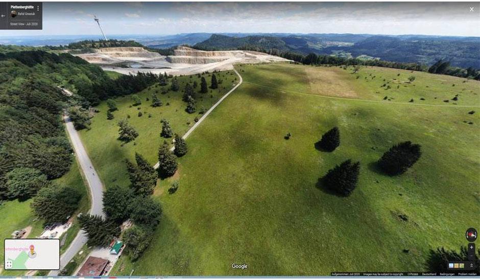 Plettenberg-Hochfläche mit Steinbruch und geplaner Süderweiterung