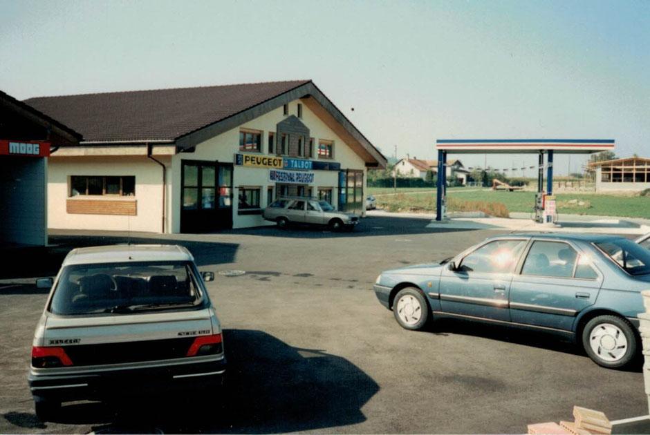 Inoguration du Garage en septembre 1989 Agence Peugeot et Station Gatoil