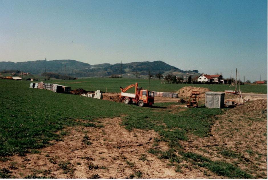 Photo du début des travaux en 1986
