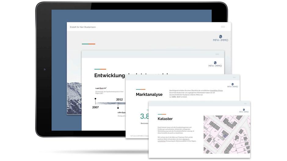 Projektentwicklung für Bauträger / Auswertung von MFH-Immo