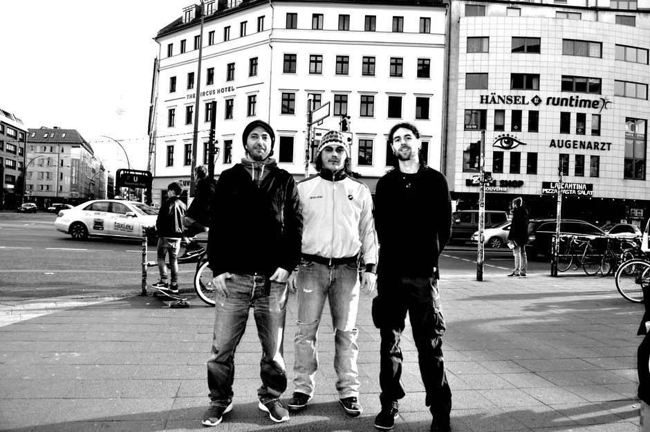 Members of Red Booster in Berlin city