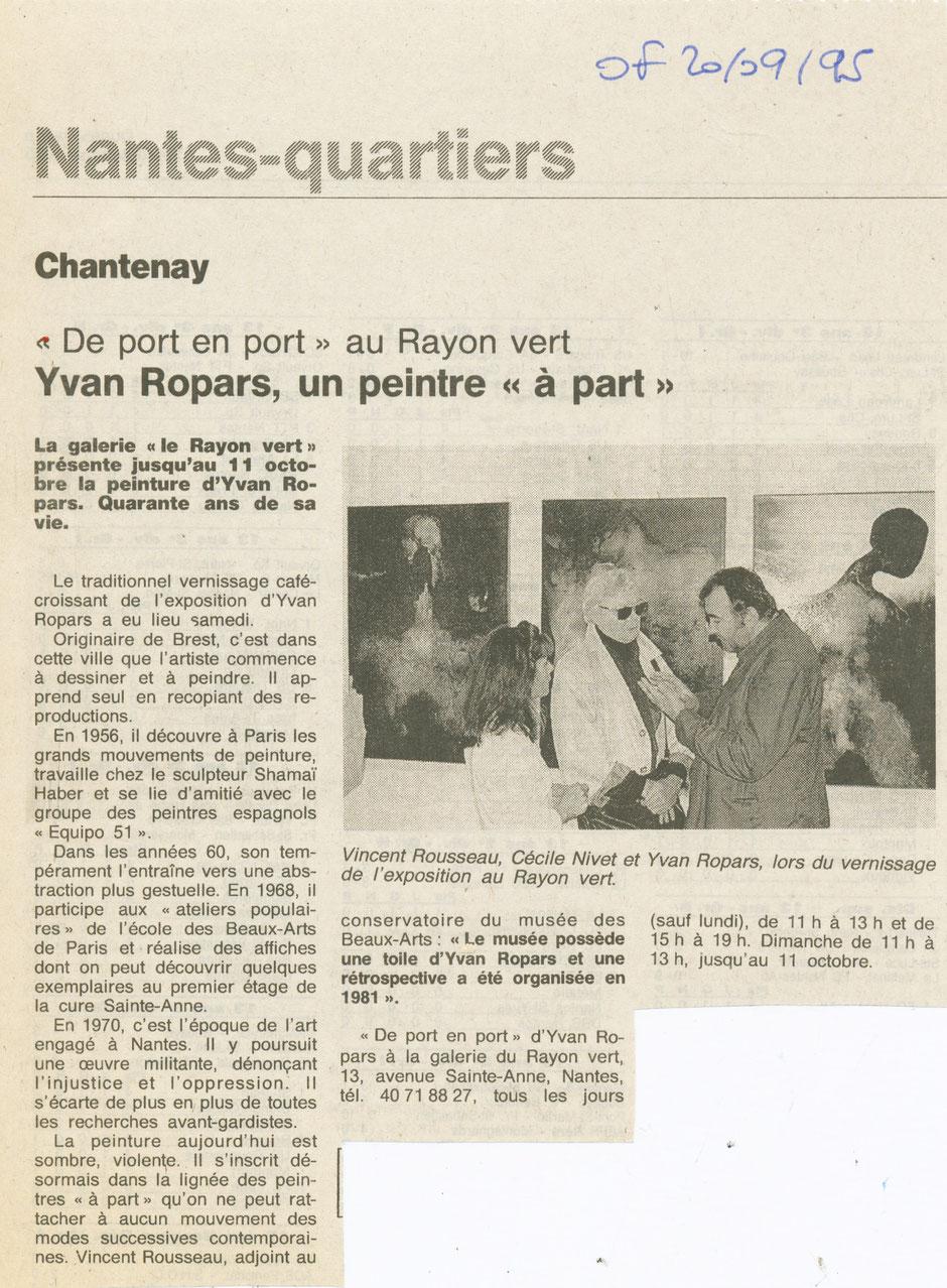 Ouest-France 20 septembre 1995