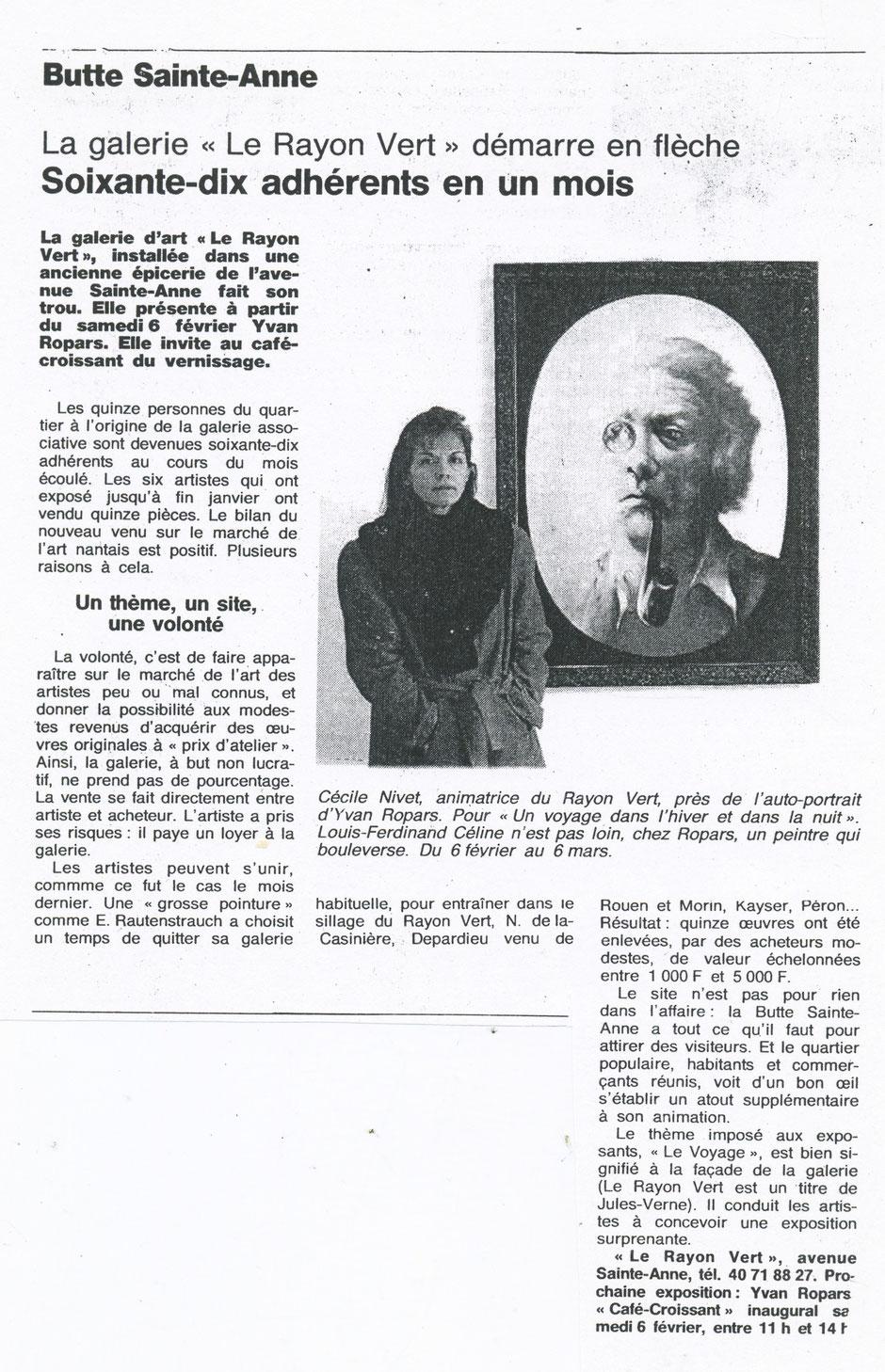 Ouest-France février 1993