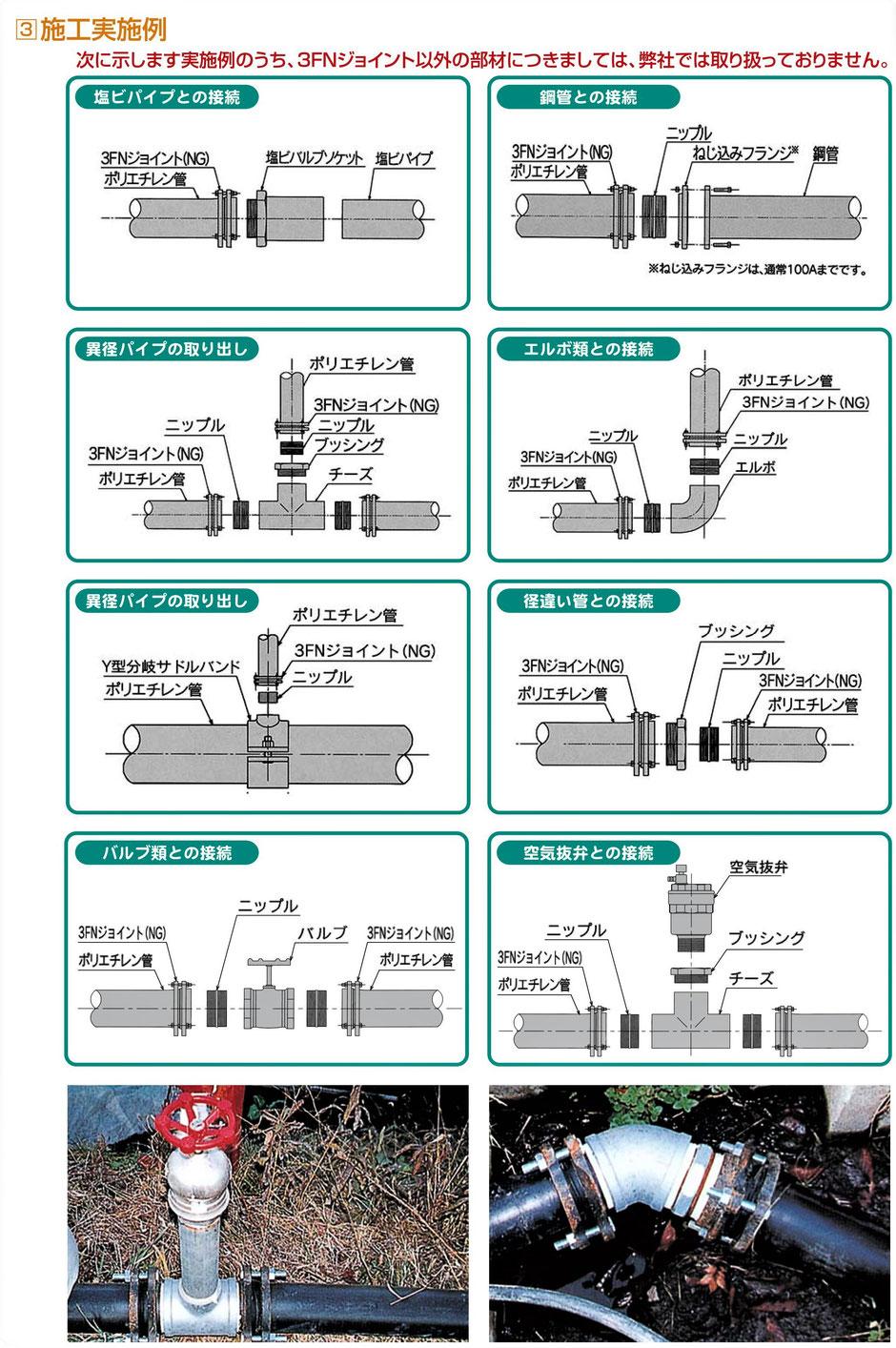 水を圧送する場合に、ポリエチレン管を使用した場合にどうしたら良いかを紹介するページです。