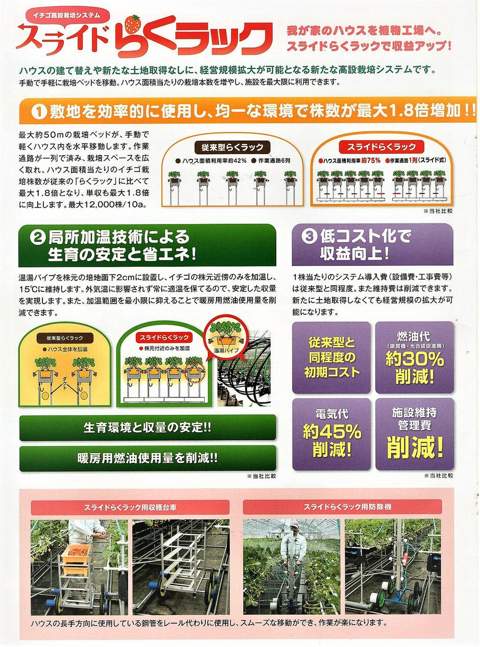 イチゴを栽培するためには、様々な資材と知識が必要です。㈱サンポリでは、様々なお客様のご要望にお応えして、最適なイチゴ栽培システムをご提案致します。