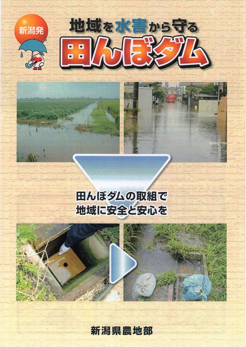 暗渠 暗きょ 田んぼダム 洪水から町を守る 田んぼの貯水機能 豪雨対策 防災機能 水害 ゲリラ豪雨 田面 田んぼの水はけ