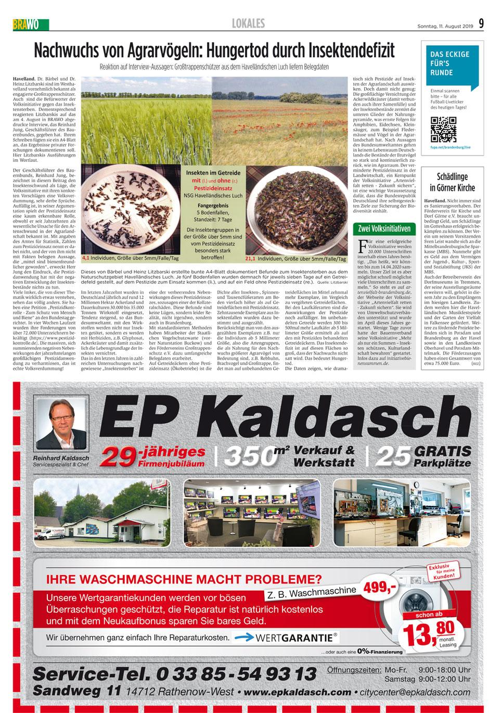 EP Kaldasch feiert 29-jähriges Firmenjubiläum und Sie einmalig günstige Angebote.