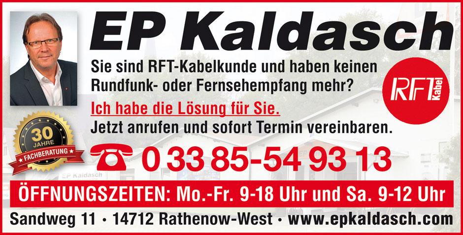 RTF Kabelkunde – Kein Radio- und TV-Empfang? EP Kaldasch hat die Lösung.