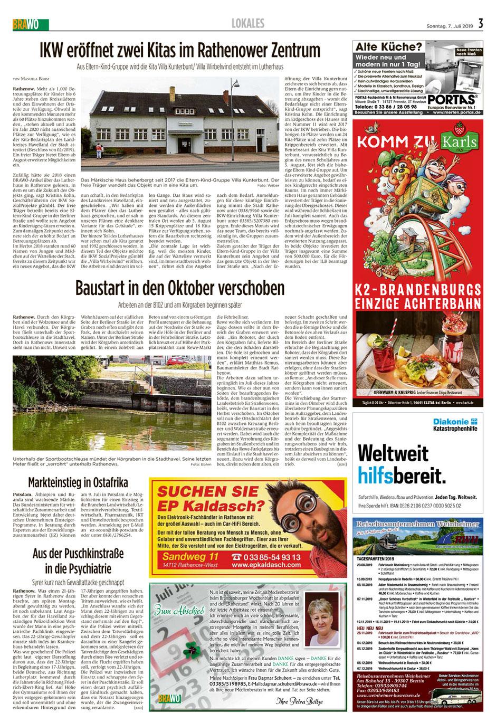 Anzeige EP Kaldasch, der Elektronikfachhandel im Sandweg 11 in Rathenow-West.