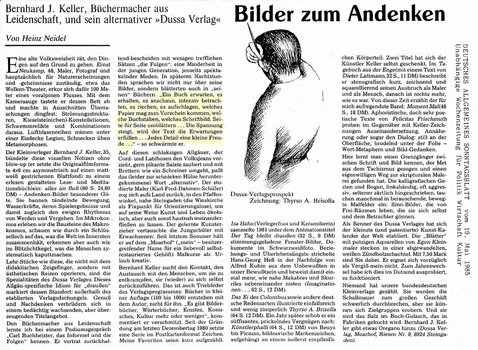 Deutsches Allgemeines Sonntagsblatt ·Bilder zum Andenken von Heinz Neidel