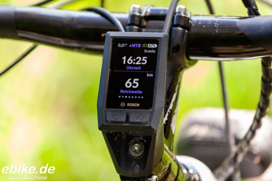 Bosch Kiox Display Reichweite und Uhrzeit
