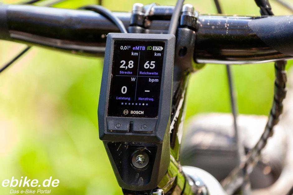 Bosch Kiox Display Wattleistung und Herzfrequenz