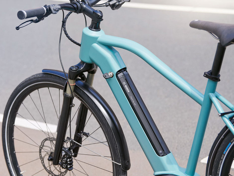 e-Bike mit integriertem Akku von Bosch