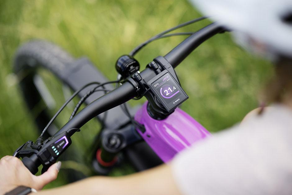 e-Bike mit Bosch Kiox 300 Display und LED Remote