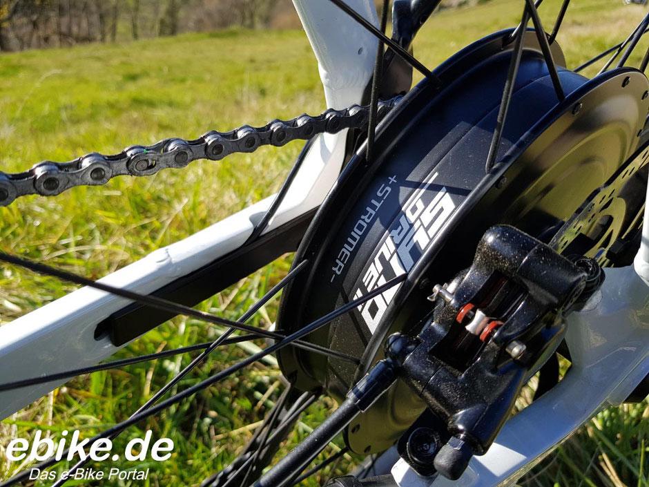Hinterradmotor beim Stromer ST3