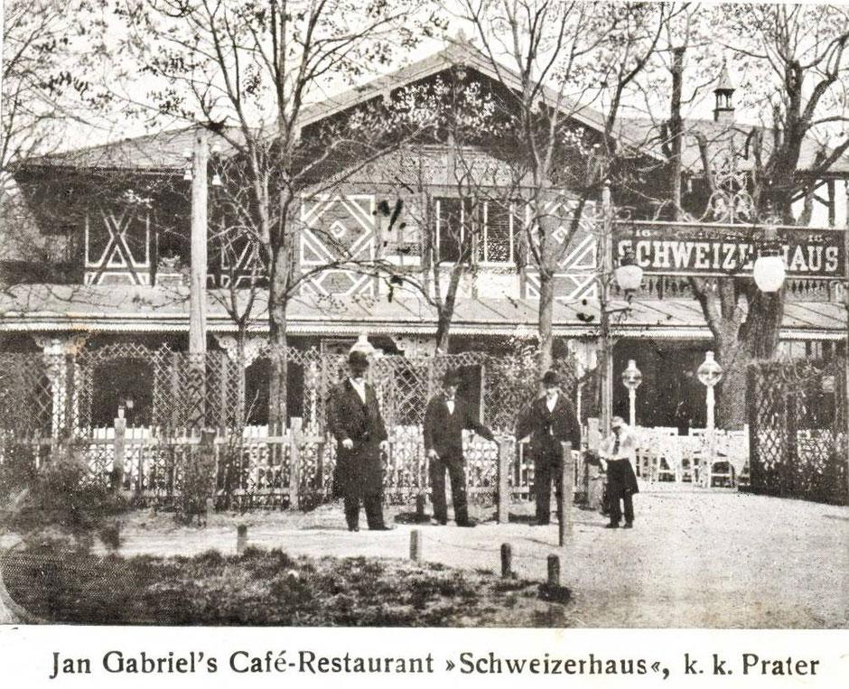 Das Schweizerhaus 1900 - 1910, Prater Wien Hotel Urania direkt buchen Bier genießen