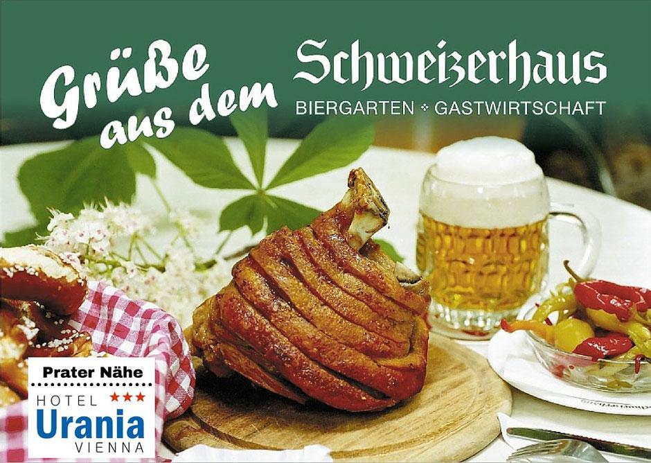 Schweizerhaus Biergarten und Das Budweiser Bier, Hotel Urania Wien Vienna in der Nähe vom Prater
