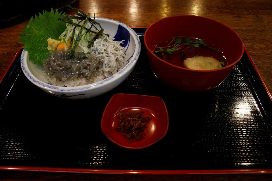 鎌倉名物のしらす丼