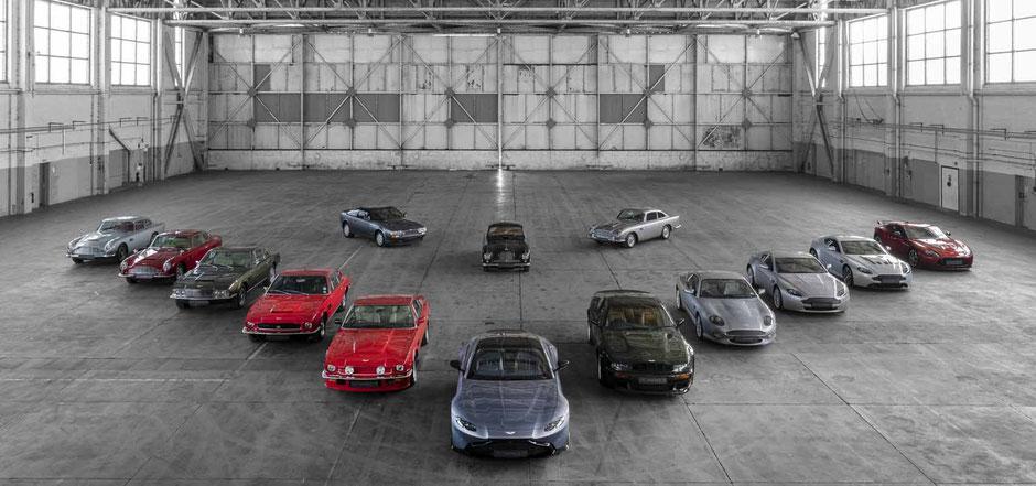 70 Jahre Aston Martin Vantage Modelle