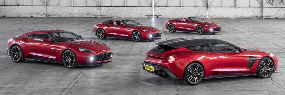 Aston Martin Vanquish Zagato Collection Coupe Volante Speedster Shooting Brake