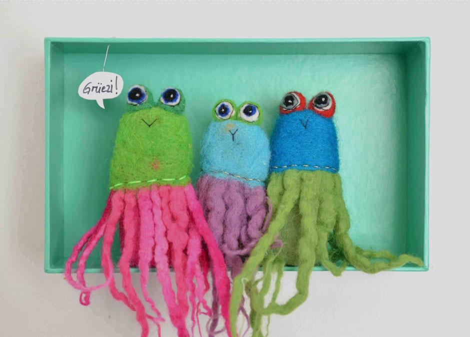 Oktopus Fingerpuppen