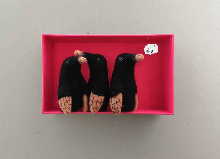 Fingerpuppen Maulwurf