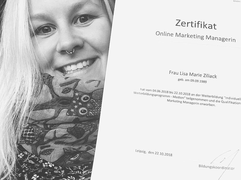 Ab jetzt bin ich Online Marketing Managerin