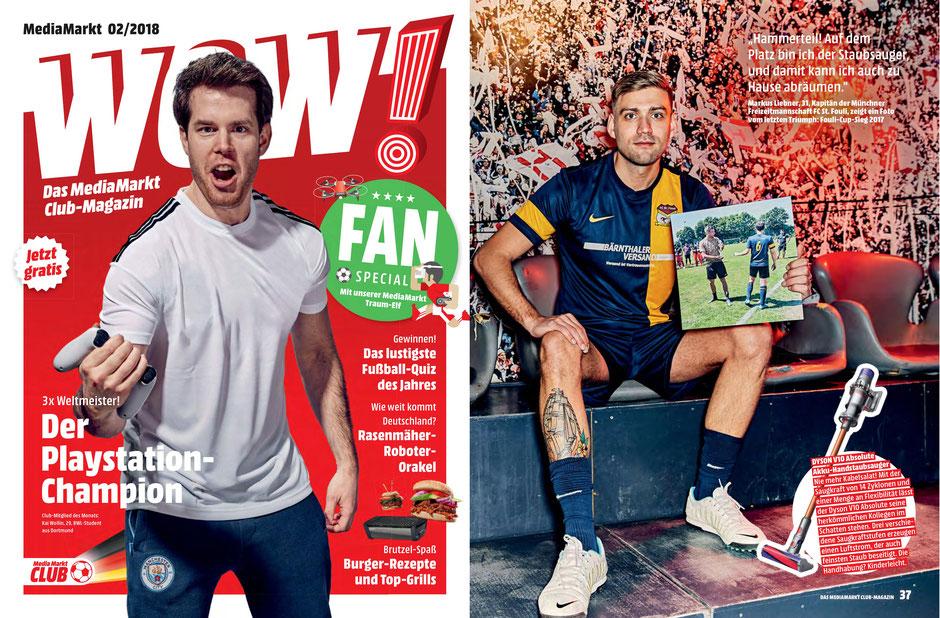 """Fouli-Kapitän Markus Liebner (r.) ist in der Ausgabe 02/2018 des """"WOW""""-Magazins vertreten. © Robert Grischek"""