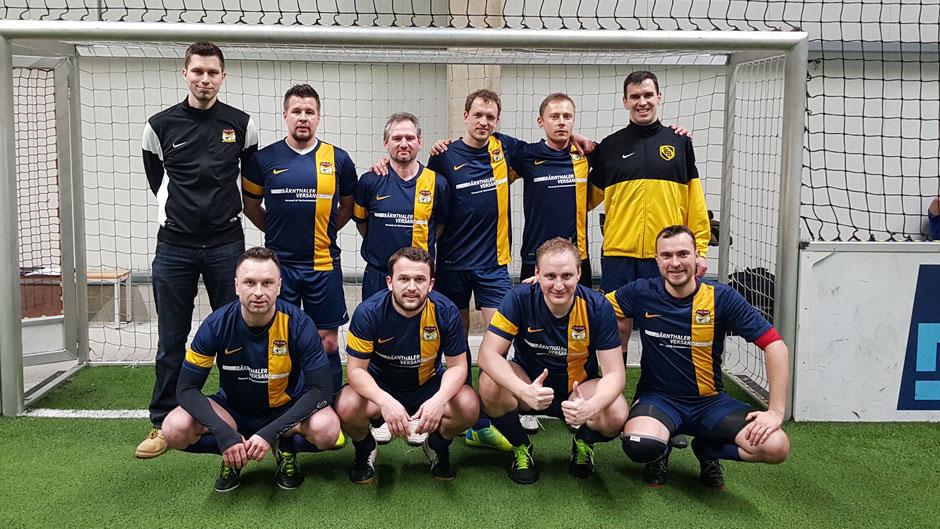 Das Fouli-Team beim Hallenturnier der SpVgg Die Zugroasten 2018. Das Team kehrt in diesem Jahr zurück in die RBL.