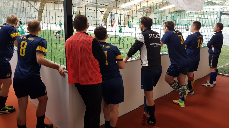 Das Team des FC St. Fouli beim Hau Danehm Hallencup 2017 im Gerlspeck Ballsportcenter in Erding.