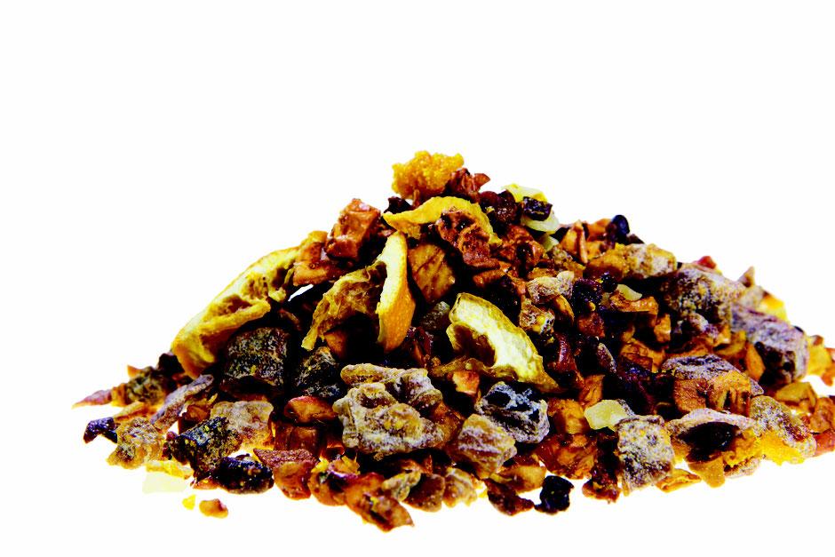 Früchte Tee /  Apfel , Orange , Ingwer und Ananas