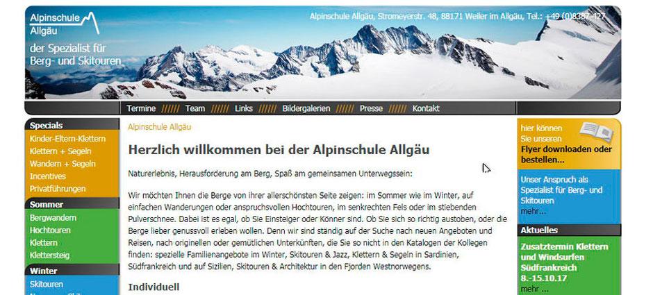 Kooperationspartner von Sport Schmidt: Die Alpinschule Allgäu