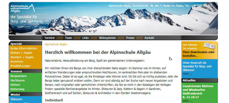 Kooperationspartner vonBaumhauer Outdoorsport: Die Alpinschule Allgäu
