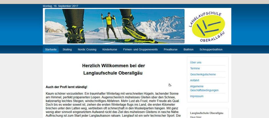Kooperationspartner von Sport Schmidt: Die Langlaufschule Oberallgäu