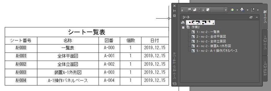 AutoCAD シートセットマネージャ