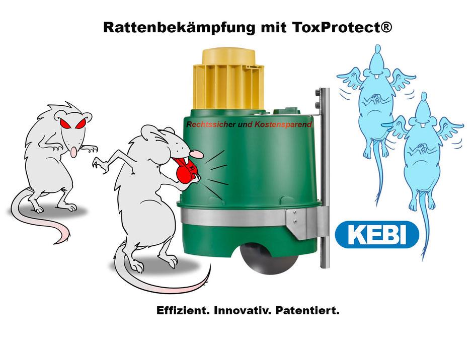 Rattenbekämpfung, RMM, Rattengift, Köderbox, Wasserdicht, Bioziden, WHG, ChemG, GefStoffV, gfA, BAuA, EU528/2012, ToxProtect, Vario-Fix
