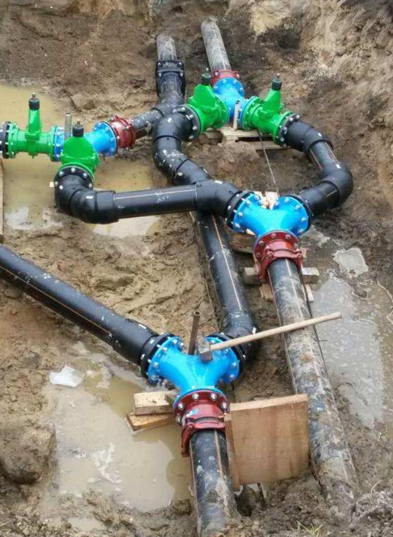 Hawle Abwasser Schieber in Druckrohrleitung