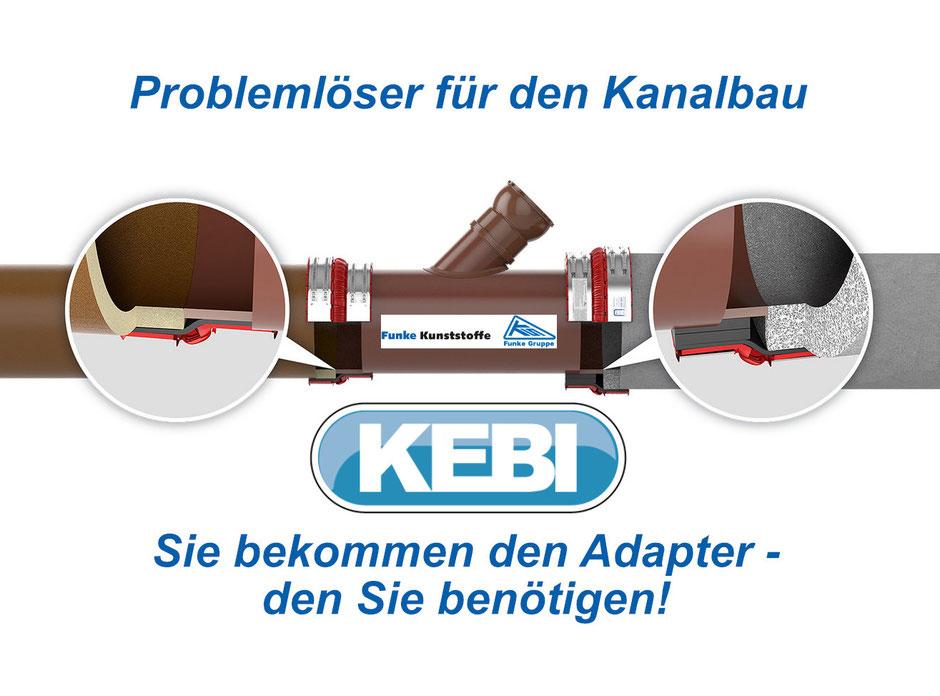 BI Adaper, VPC Kupplung, BSM Adapter, Reperaturabzweig, Betonrohranschluss