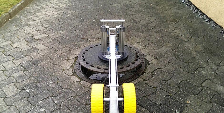 VacMan Ergo Vakuum Hebewerkzeug für schwere Lasten wie alle Art von Schachtabdeckungen