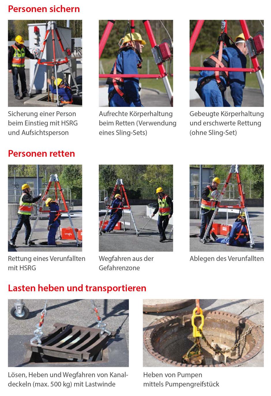 KEBI Dreibein zum Personen sichern, Personen retten und Lasten heben und transportieren