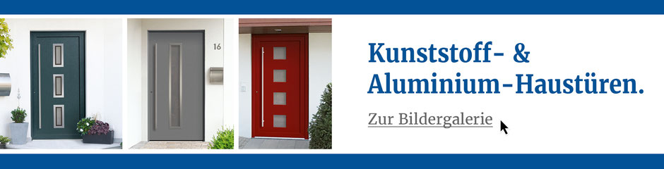 Kunststoff Aluminium Haustür Galerie