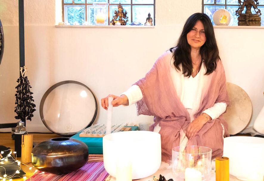 Sound Healing in Yogastudio in Hamburg mit Sumann