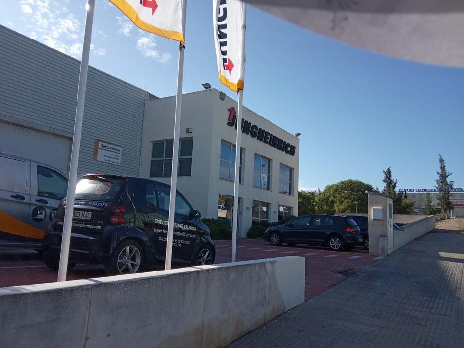 Servicio de Asistencia Técnico de ElectroBB a Jungheinrich en el Parque Tecnológico de Paterna