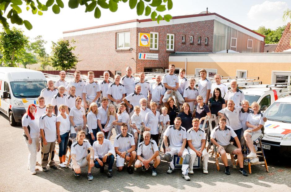 Malerfachbetrieb Möhlmann in 26689 Augustfehn, Mitarbeiter-Team